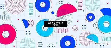 Various Geometrical Shapes Background. vector