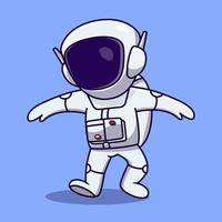 Cute and fun Astronaut cartoon illustration vector