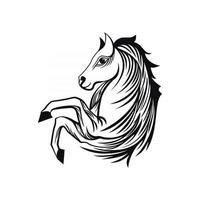 arte de línea de caballo vector