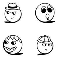 Emojis and Emoticons vector