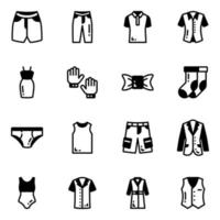 Pack of Attires vector