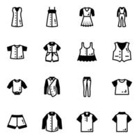 Pack of Casual Clothes vector