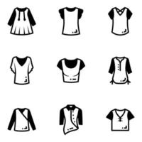 Pack of Casual Attires vector