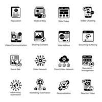 Video and Website Technology vector