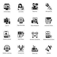 Pack of Multimedia vector