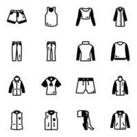 Pack of Apparels vector