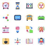 Pack of School Accessories vector