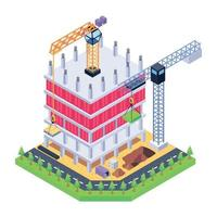 Construction Machinery and Bulidings vector