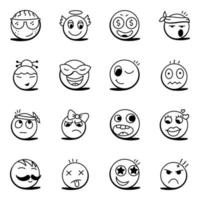 Emojis and Smiling face vector