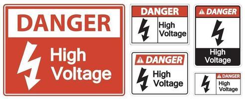 Danger High voltage Sign Isolate On White Background,Vector Illustration EPS.10 vector