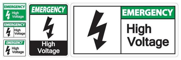 Emergency High voltage Sign Isolate On White Background,Vector Illustration EPS.10 vector