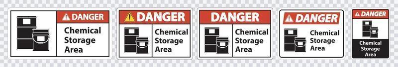 Danger Chemical Storage Symbol Sign Isolate on transparent Background,Vector Illustration vector