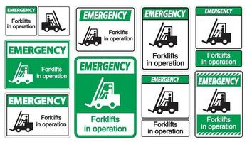 Emergency forklifts in operation Symbol Sign Isolate on transparent Background,Vector Illustration vector