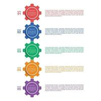 Infographic template design in 5 option vector