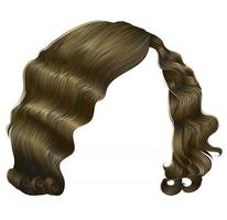 trendy woman hairs  kare blond colors . beauty fashion . retro style curls . realistic 3d . vector