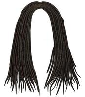trendy african long  hair dreadlocks . realistic  3d .fashion beauty style . vector