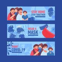 Prevention Covid-19 Banner Illustration vector