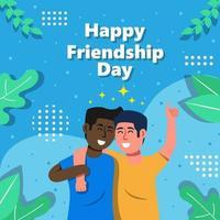concepto de celebración del día de la amistad vector