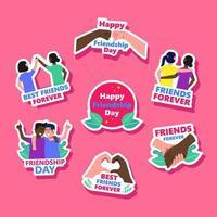 Friendship Sticker Set vector