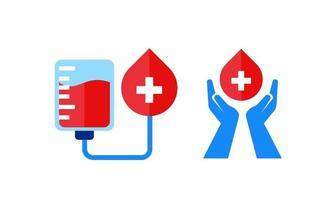 blood donation save life illustration design vector