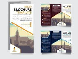 Tri fold vector brochure template