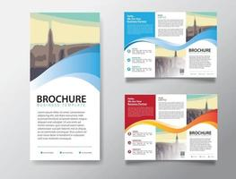 tri fold brochure template for promotion marketing vector