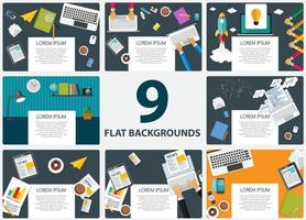 Abstract Backgrounds on Business Theme with Empty Place for Your vector