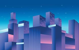 Cityscape Background at Night vector