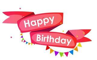 Happy Birthday Card Template Vector Illustration