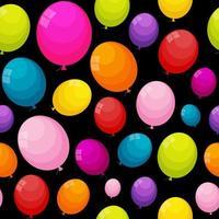 Globos de color brillante seamles ilustración de vector de fondo de la trama