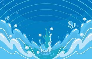 salpicaduras de agua aqua vector
