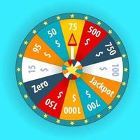 Happy colorful casino wheel vector