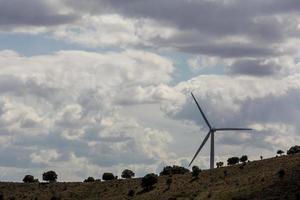 Windmills in the province of Soria, Castilla y Leon, Spain photo
