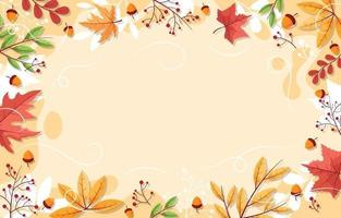 Fall Background Design vector