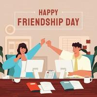 Friendship Day in Office Celebration Concept vector