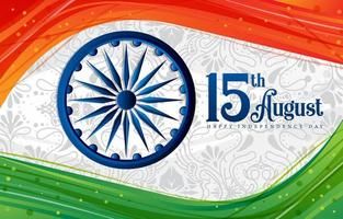India Independence Day Background Concept vector