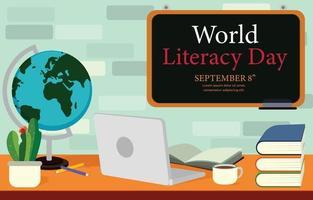 World Literacy Day Background vector
