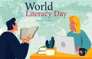 World Literacy Day Concept vector