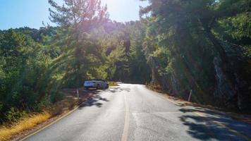Mountain sunny road photo
