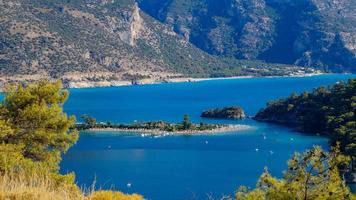 View from hill to Oludeniz photo