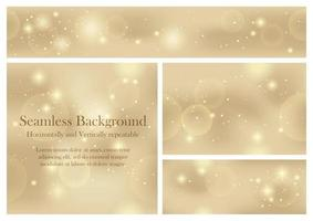 Set Of Seamless Abstract Backgrounds With Lights And Halos. Vector Illustration. Horizontally And Vertically Repeatable.