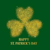 Gold dust of three leaved shamrock vector