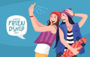Flat Friendship Day Celebration Concept vector