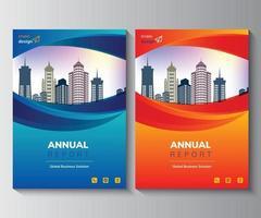 diseño de informe anual diseño de uso multipropósito para cualquier proyecto, informe anual, folleto, volante, cartel, folleto, etc. vector