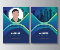 plantilla de diseño de diseño de informe anual, plantilla de diseño de portada de libro de negocios de fondo en a4. Se puede adaptar a un folleto, informe anual, revista, póster, presentación corporativa, cartera, volante, folleto. vector