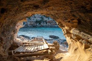 Beautiful Cala d en Baster on the island of Formentera in the Balearic Islands in Spain photo