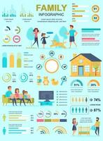 Family banner with infographic elements vector