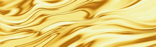 Gold silk wave background photo