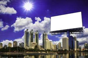 Blank billboard at the city photo