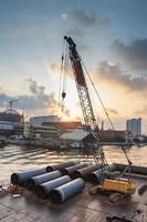 Big Iron Pipe with Crane photo